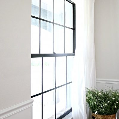 How to: Paint Black Window Panes