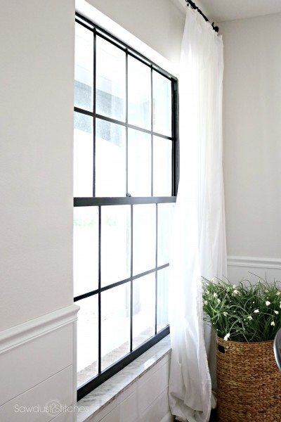 How to: Paint Black Window Panes - Sawdust 2 Stitches