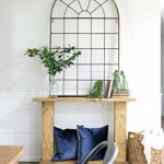 DIY Trestle Entry Table