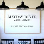 DIY Diner Wall Art Sign
