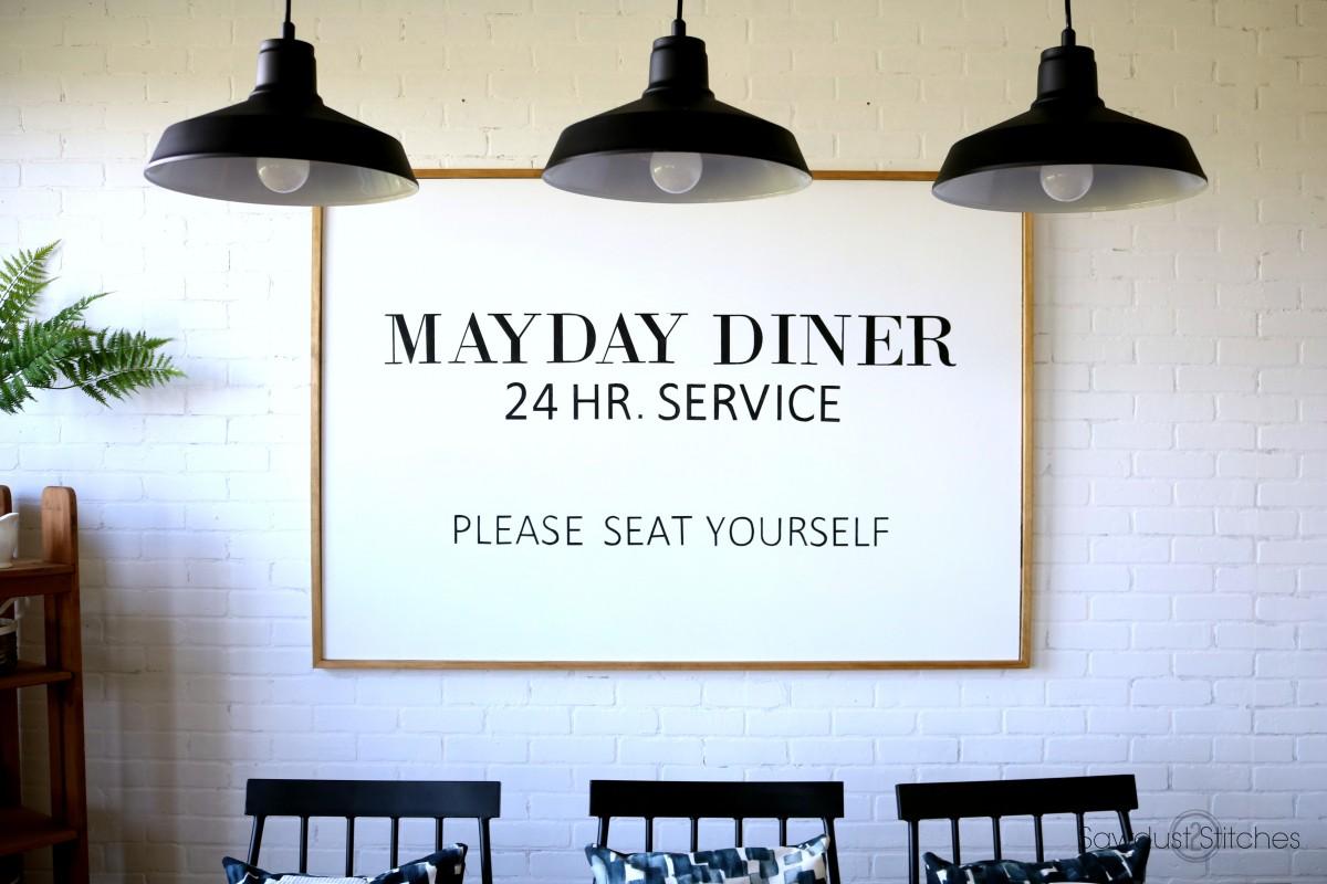 Diy Diner Wall Art Sign