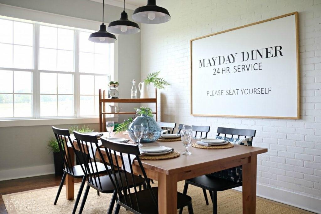Modern Farmhouse Dining Room Makeover, Modern Farmhouse Dining Room