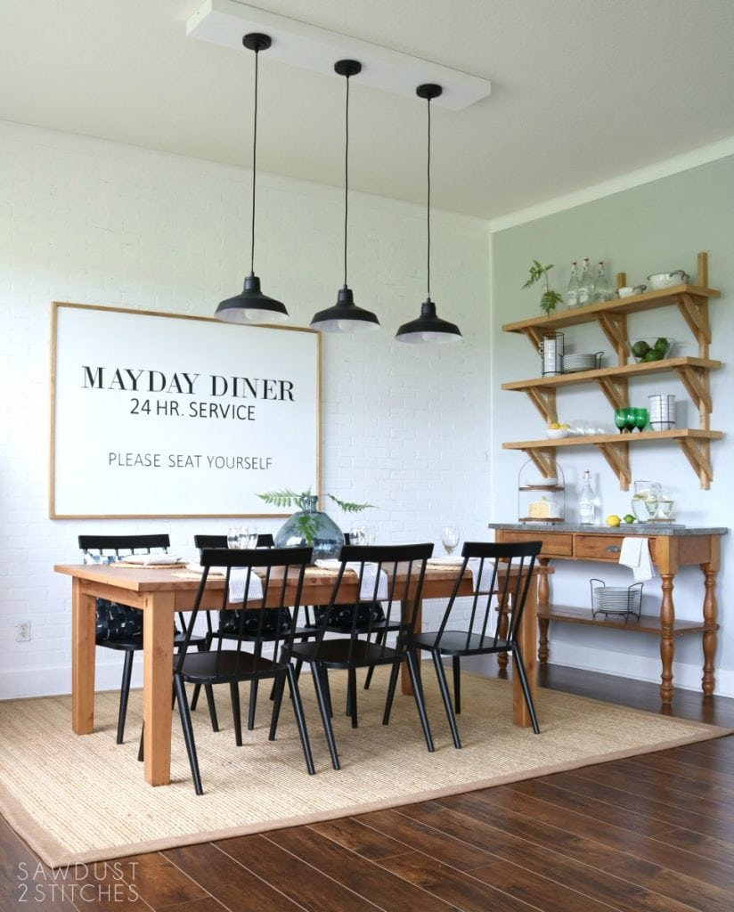 Modern Farmhouse Dining Room Makeover Sawdust 2 Stitches