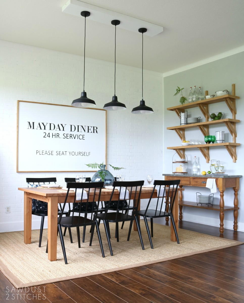 Dining Room Makeover: Modern Farmhouse Dining Room Makeover
