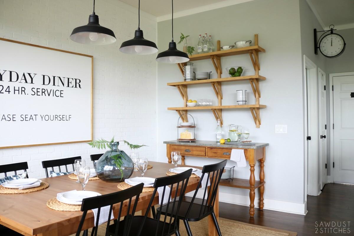 Groovy Modern Farmhouse Dining Room Makeover 7 Sawdust 2 Stitches Spiritservingveterans Wood Chair Design Ideas Spiritservingveteransorg