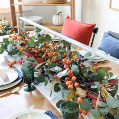 Jewel Tone Fall Tablescape