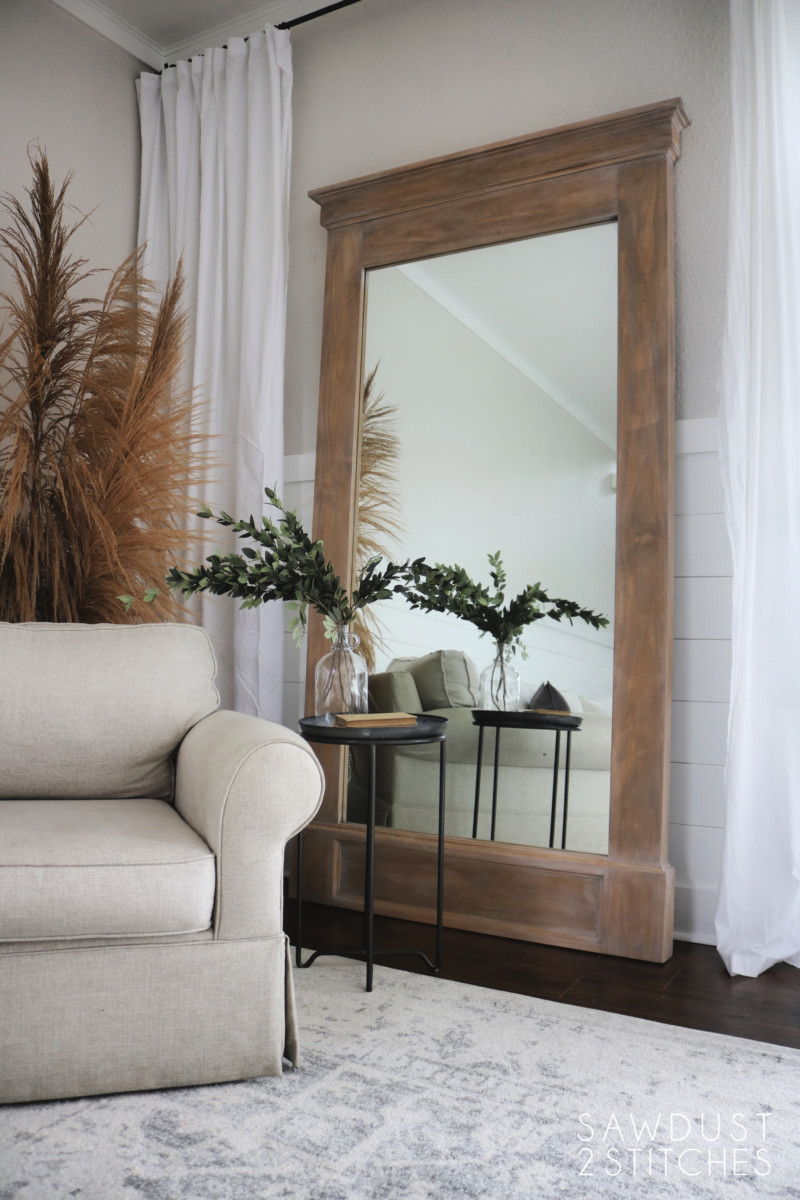 How To Build Large Floor Leaner Mirror