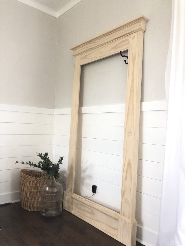 How To Build Large Floor Leaner Mirror Sawdust 2 Stitches