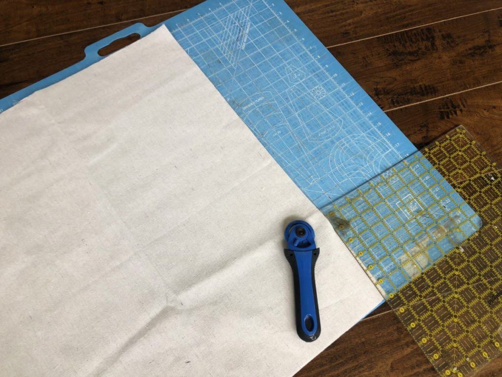 How to sew a R.V./ Toy Hauler curtain using drop cloths.