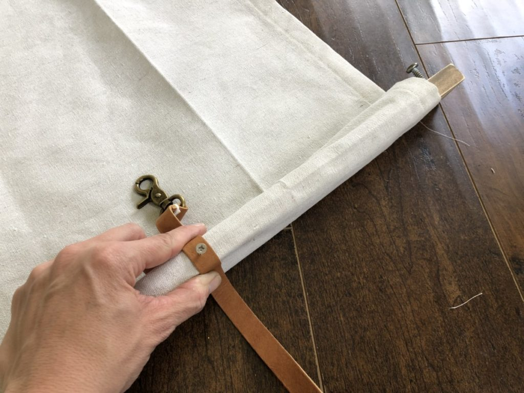 Installing roll up diy curtains in an r.v.