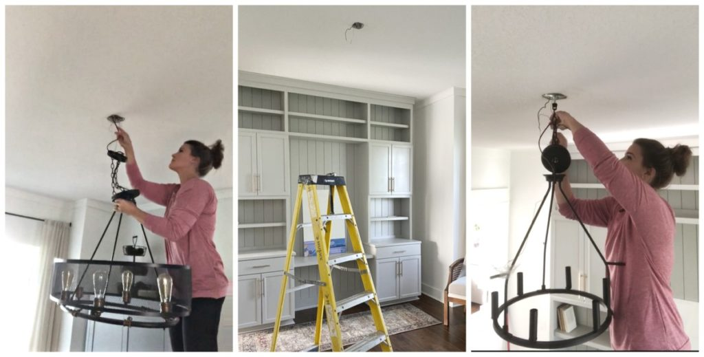 Office makeover using built-ins.