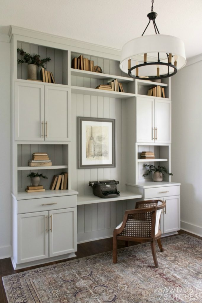 Office Built-ins using cabinets.