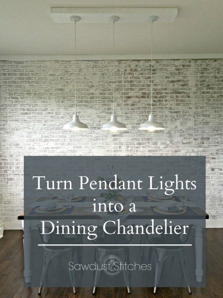 Turning a pendant light into a chandelier.