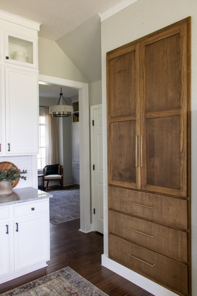 Built in pantry in kitchen